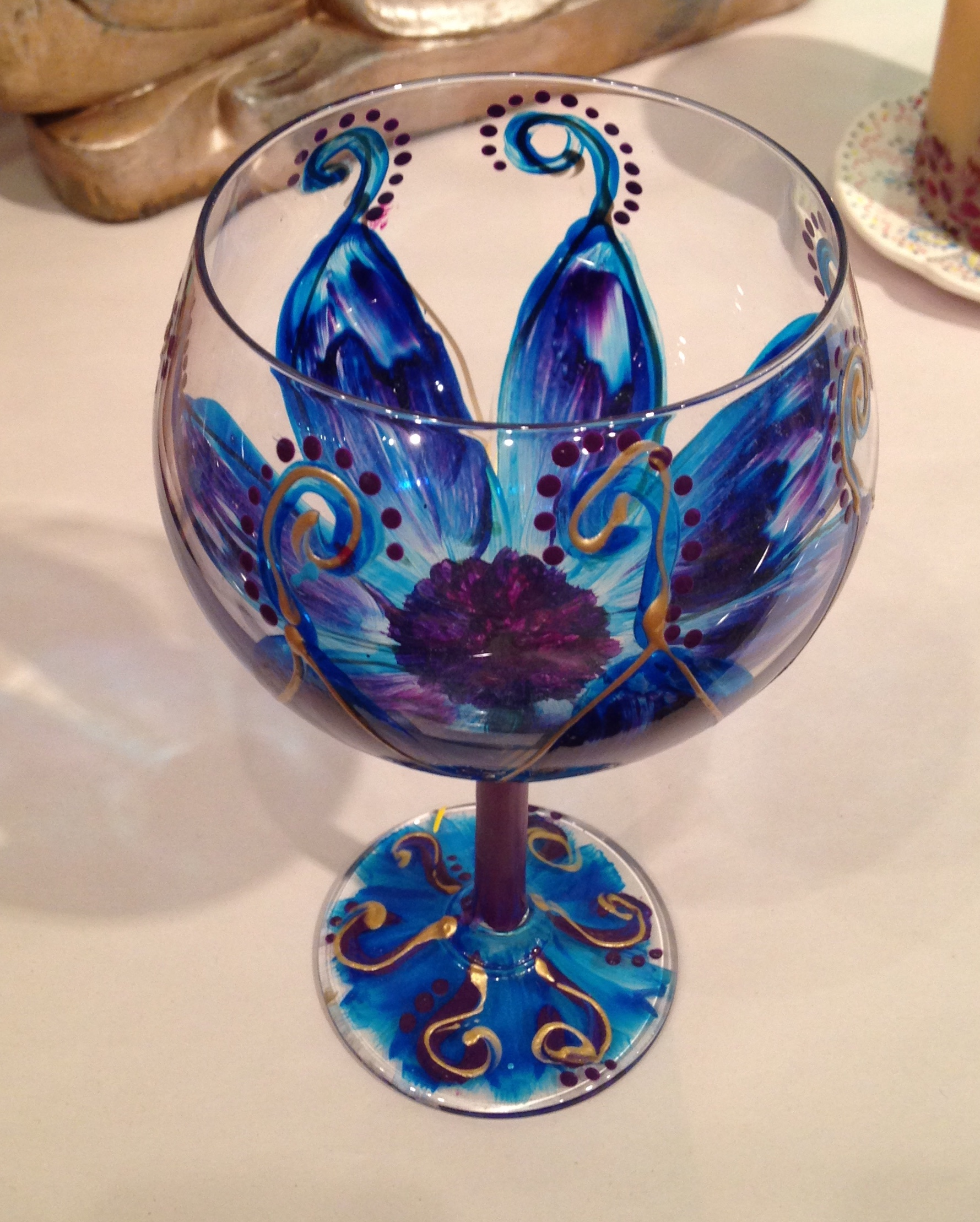 Hand Painted Glass Designs